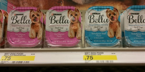 *NEW* Purina Pet Food & Treat Coupons = Bella Wet Dog Food Only 37¢ Per Tray at Target + More