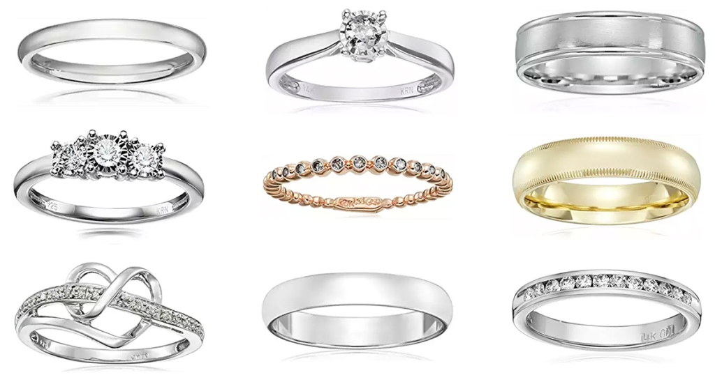 Amazon Up To 70 Off Diamond Rings Wedding Bands Hip2save