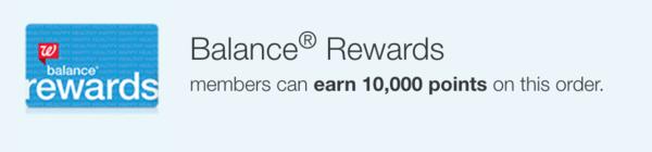 Balance Reward Points earned