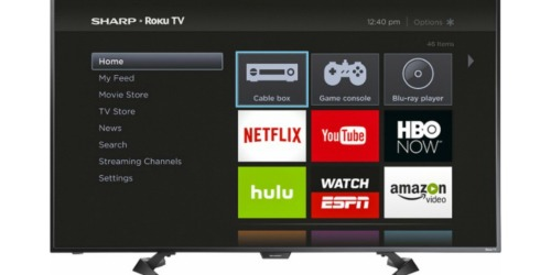 Best Buy: Sharp 50″ LED Smart HDTV Roku TV Only $299.99 Shipped (Regularly $429.99)