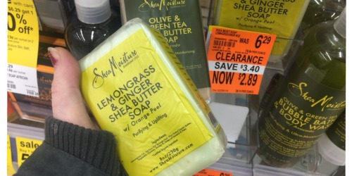 Walgreens: SheaMoisture Bar Soap Possibly $1.17 Each (Regularly $6+) + Grocery Clearance Finds