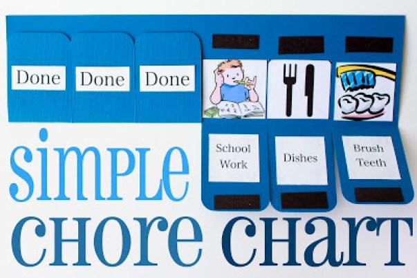 Simple DIY Chore Chart