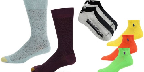 Lord & Taylor: Save BIG on Men's Socks (Polo Ralph Lauren, Calvin Klein & GoldToe Brands)
