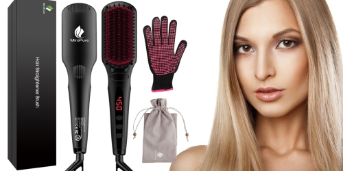 Amazon: MiroPure 2-in-1 Ionic Hair Straightening Brush Only $23.59 (Regularly $42+)