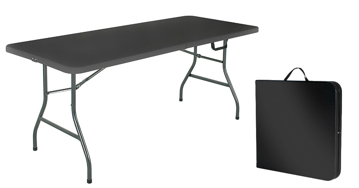Cosco 6 Foot Centerfold Folding Table Only 38 88 Shipped