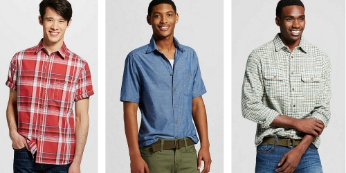 Target.com: 70% Off Mossimo Men's Button-Down Shirts = As Low As $5.98 (Reg. Up to $24.99)