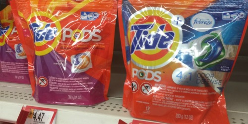 New $2/1 Tide Pods and Gain Flings Coupons = Great Deals at Walmart and Target