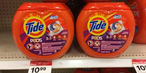 Target Shoppers! BIG Savings on Laundry Products (Tide Pods 42ct Only $4.89 + More)