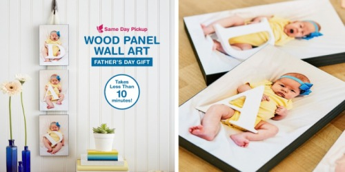 Walgreens: 50% Off Wooden Photo Panels w/ Free Store Pickup (Great Gift Idea)