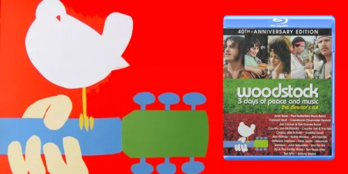 Woodstock: 3 Days of Peace & Music Blu-ray Only $13.96 (Regularly $34) – 40th Anniversary Edition