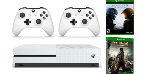 Xbox One S Console Bundle Only $289.99 Shipped (Includes 2 Games & Extra Wireless Controller)