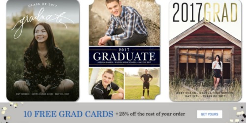 Tiny Prints: 10 FREE Custom Graduation Announcements (Just Pay Shipping)