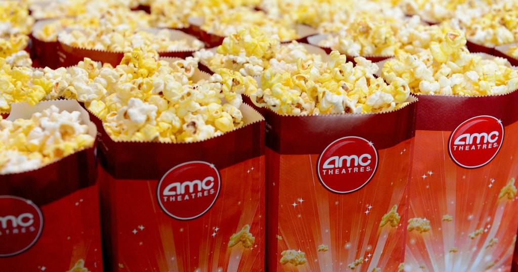 row of AMC popcorn