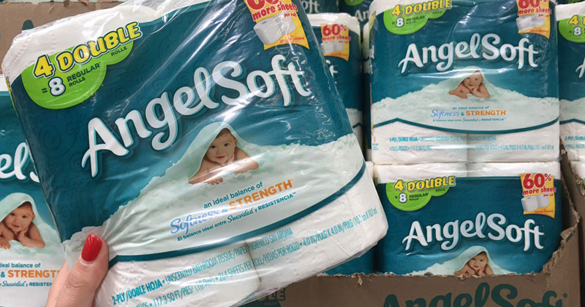 Walmart Angel Soft Toilet Tissue Just 48 162 Per Double Roll