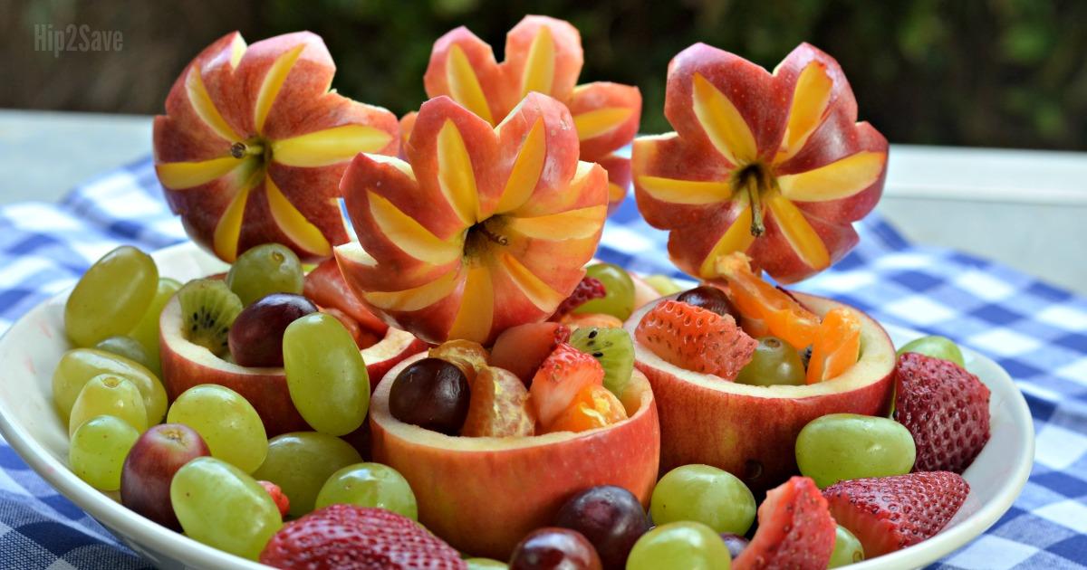 DIY apple fruit bowls