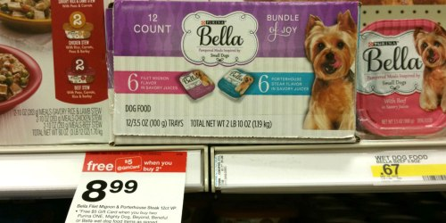 Target: Purina Bella Wet Dog Food Trays As Low As 17¢ Each After Gift Card Offer + More