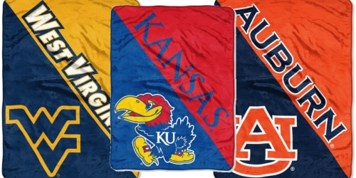 NCAA Polyester 46×60 Throws ONLY $15.49 Shipped (Regularly $29.99)