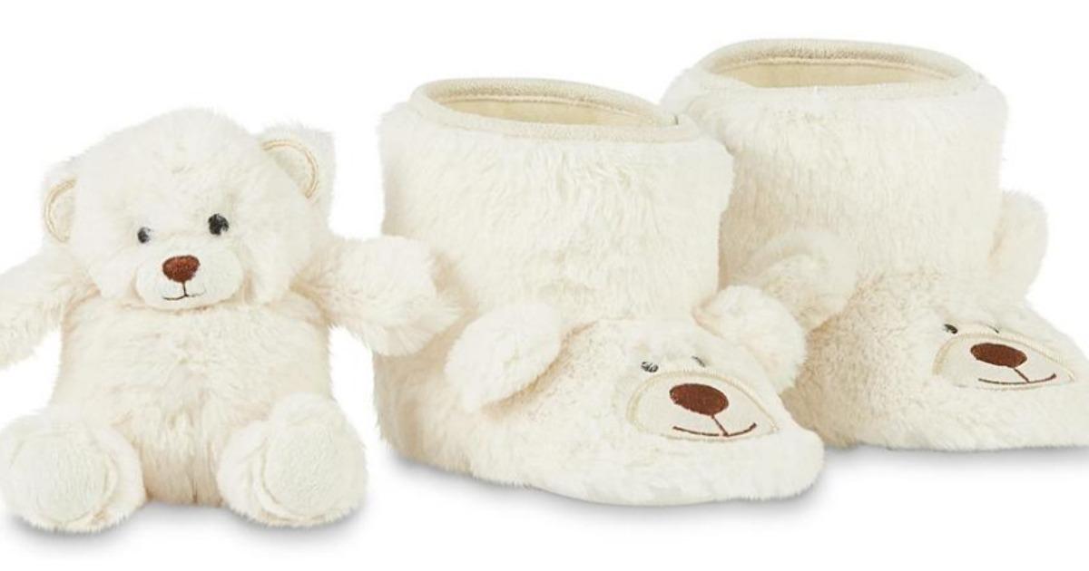 Girls' WonderKid Bear Bootie Slippers