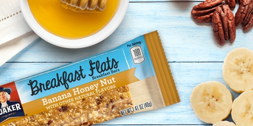 New $1/2 Quaker Breakfast Flats Coupon = 5-Count Boxes Only 49¢ at Walgreens