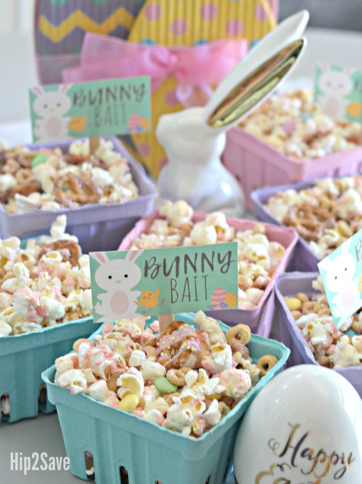 Spring popcorn and chocolate treat