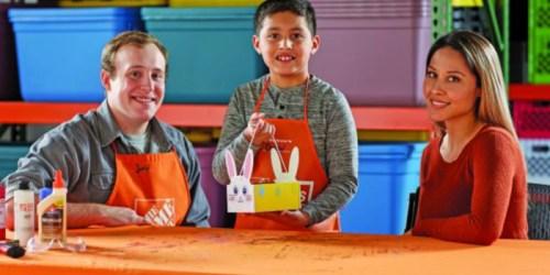 Home Depot Kids Workshop: Register NOW to Build Free Bunny Basket This Saturday, April 1st