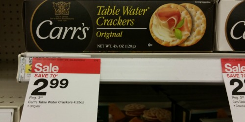 New $1/1 Carr's Crackers Coupon = Only $1.99 at Target (Regularly $3.69)