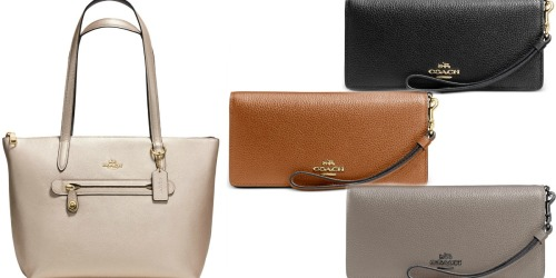 Macy's: 30% Off Designer Handbags = Coach Leather Wallet Only $52.50 (Reg. $150) + More