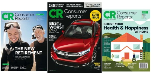 Rarely Discounted Magazine Subscription Sale – Consumer Reports Only $1.54 Per Issue & More