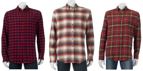 Kohl's Cardholders: Men's Croft & Barrow Flannel Shirts Only $5 Shipped (Regularly $36) + More