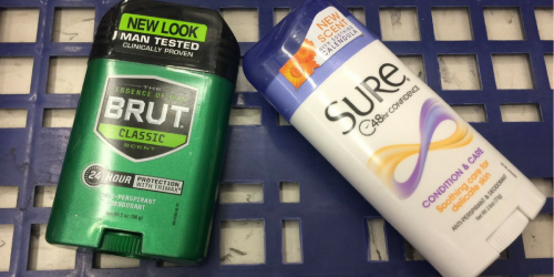 NEW $1/1 Sure & Brut Coupons = Deodorant ONLY 99¢ at Walgreens Or Rite Aid