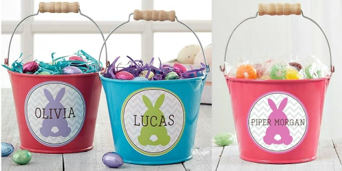 Personalized Easter Bunny Mini Treat Bucket ONLY $6.75 Shipped + More
