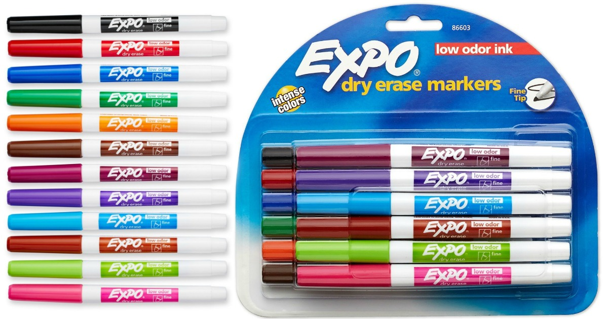 Amazon: EXPO Dry Erase Markers 12-Pack Only $7.16 - Hip2Save