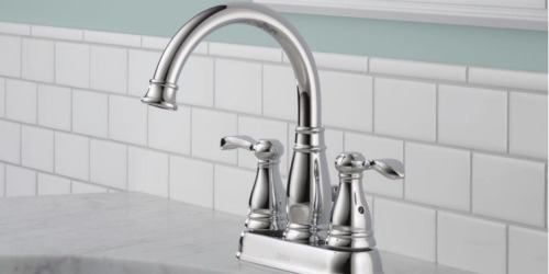 The Home Depot: Delta 2-Handle Chrome Bathroom Faucet Only $34.88 (Regularly $79)