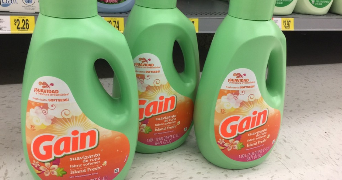photo about Free Printable Gain Laundry Detergent Coupons known as $5/3 Financial gain Laundry Goods Coupon \u003d Material Softener 64oz