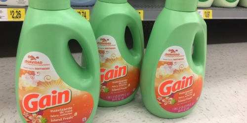 $5/3 Gain Laundry Products Coupon = Fabric Softener 64oz Bottles $1.30 Each at Walmart