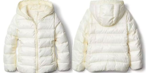 GAP.com: Up To 40% Off Entire Store + Extra 20% Off = Girl's Puffer Coat Only $39.99 (Regularly $108)