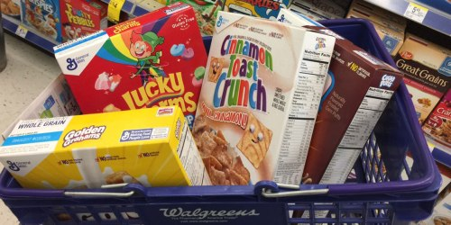 Walgreens: General Mills Cereals Only $1.50 Each (Regularly $4.99) + Free Movie Ticket Offer