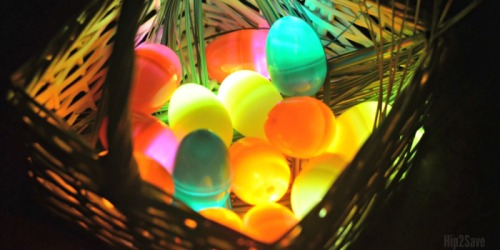 Glow in the Dark Easter Eggs Using Flameless Tea Light Candles