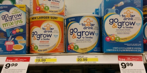 Target: FREE Go & Grow by Similac Toddler Drink 16ct Singles After Gift Card (Regularly $9.99)