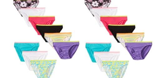 9 Pack of Hanes Big Girls' Bikini Underwear Only $7.08 (Just 79¢ Each)