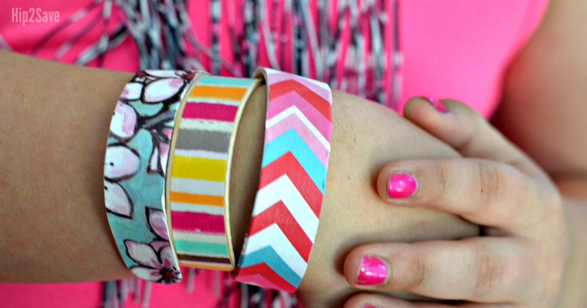 How to Make Craft Stick Bracelets – closeup of a bracelet on a wrist