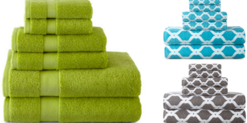 JCPenney: Nice Deals On 6-Piece Towel Sets