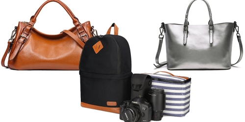 Amazon: Nice Deals on Leather Shoulder Bags & Laptop Backpacks