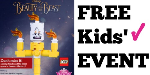 ToysRUs Beauty & The Beast Launch Party: Build a FREE Disney Lumiere Character on March 25th