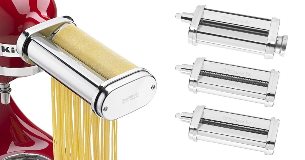 KitchenAid 3 Piece Pasta Roller & Cutter Attachment Set Only ...