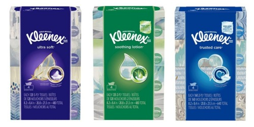 Target.com: Kleenex Facial Tissue 4-Packs Only $3.54 Each Shipped (After Gift Card)