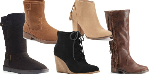 Kohl's Cardholders: FIVE Pairs Of Boots ONLY $50 Shipped + Earn $10 Kohl's Cash (HOT!!)