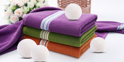 Amazon: Premium Wool Dryer Balls 6 Pack ONLY $11.99 – Soften Your Laundry Naturally