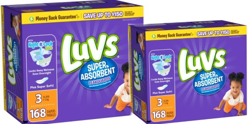 Jet.com: 20% Off Luvs & Pampers + Extra 15% Off (New Customers) = Diapers Only 11.3¢ Each Shipped