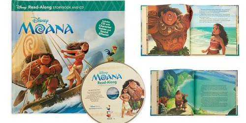 Disney Read-Along Paperback Storybook + CD Sets Only $3.73 Each (Moana, Cars & More)
